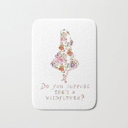 Do you suppose she's a wildflower? Bath Mat