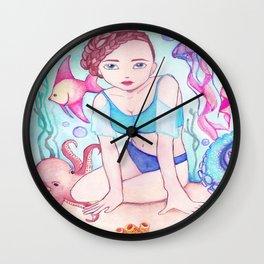 Lady Undersea Wall Clock