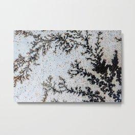 Moss Agate Sakura blossom Metal Print