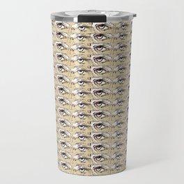 Steve Buscemi's Eyes Tiled Pattern Comic Travel Mug
