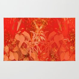 Beautiful red foliages - illustration of garden Rug