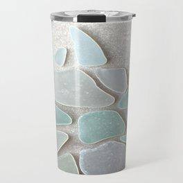 Sea Foam Sea Glass Christmas Tree #Christmas #seaglass Travel Mug