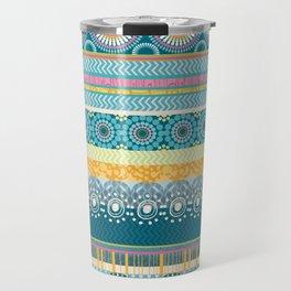 Blue Streaks Travel Mug