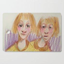 Les jumeaux -Titeface-792-793-ÖMiserany 2016 Cutting Board