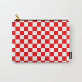 Jumbo Australian Racing Flag Red and White Checked Checkerboard Pattern Carry-All Pouch