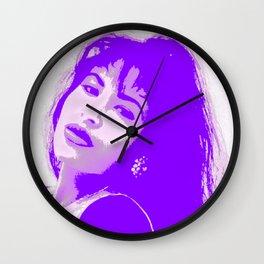 SelenaQuintanilla Queen of Tejano Como la Flor Bidi Bidi bom bom PURPLE Wall Clock