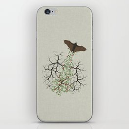 fruit bat paints forest iPhone Skin