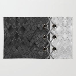 Lacing . 1 . Black and white snake. l Rug