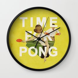 Time For Pong Wall Clock