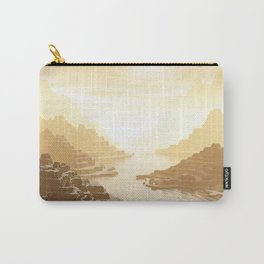 Misted Mountain River Passage Carry-All Pouch