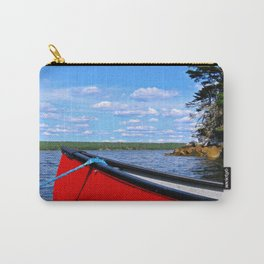 Red canoe in Shelburne, Nova Scotia Carry-All Pouch