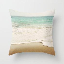 Ombre Beach Throw Pillow