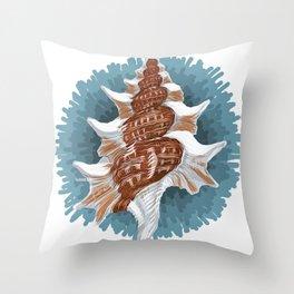 Mollusk (Seashell) - Molusco (Caracola) Throw Pillow