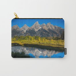 Grand Teton - Reflection at Schwabacher's Landing Carry-All Pouch