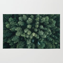 Forest from above - Landscape Photography Rug