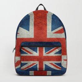 British flag of the UK, retro style Backpack