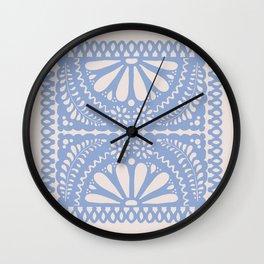 Fiesta de Flores Serenity Blue Wall Clock