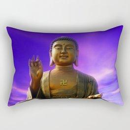 Buddha Blue Dawn Rectangular Pillow