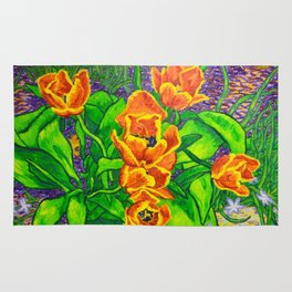 View of Tulips Rug