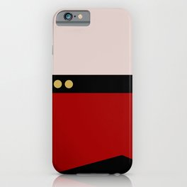 Picard -Minimalist Star Trek TNG The Next Generation  Captain Jean Luc Picard startrek Trektangles iPhone Case