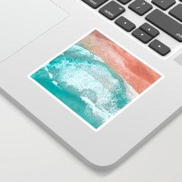 The Break - Turquoise Sea Pastel Pink Beach III Sticker