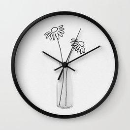 Flower Still Life II Wall Clock