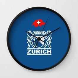 Zurich City of Switzerland Wall Clock