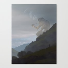 Giant smoking Canvas Print