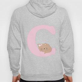 C - pink cat Hoody