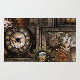 Steampunk, wonderful clockwork with gears Rug