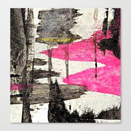 Pink Lake Abstract Canvas Print
