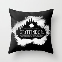 Gryffindor B&W Throw Pillow