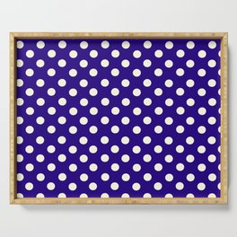 Polka Dot Party in Blue and White Serving Tray
