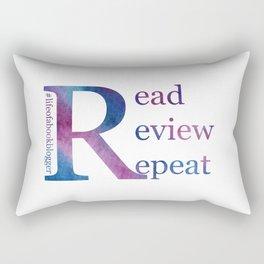 Read, Review, Repeat Rectangular Pillow