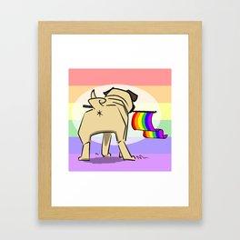 Pride Pug: Butt Framed Art Print