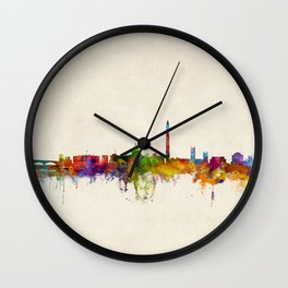 Washington DC Skyline Cityscpae Wall Clock