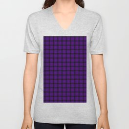 Small Indigo Violet Weave Unisex V-Neck