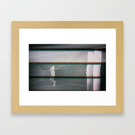 Hotline Glitch Framed Art Print