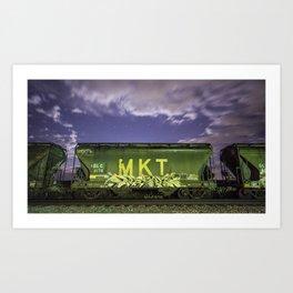 Graffiti Train 01 Art Print