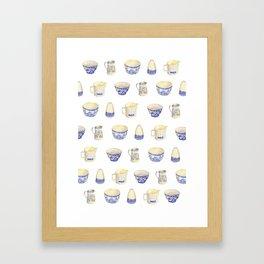Blue and white ceramics  Framed Art Print
