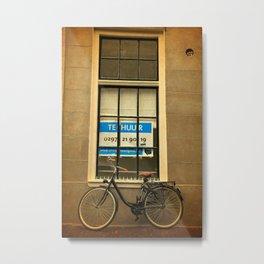 Amsterdam Dutch Bikes: The Contemporary Black Beauty Metal Print