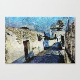 Street of Stromboli Aeolian Island Canvas Print