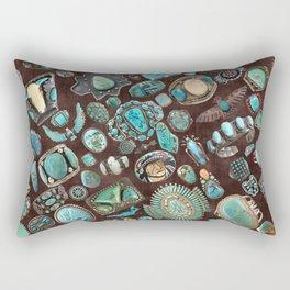 Vintage Navajo Turquoise stones Rectangular Pillow