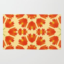 Colorful Floral Print Vector Style Rug