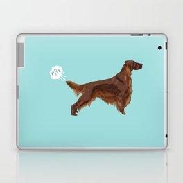 Irish Setter farting dog cute funny dog gifts pure breed dogs Laptop & iPad Skin