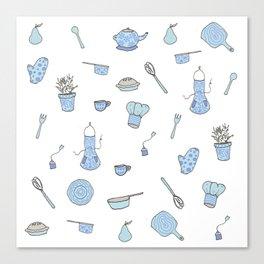 Kitchen Pattern Print! Canvas Print
