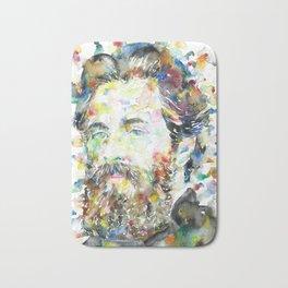 HERMAN MELVILLE - watercolor portrait.1 Bath Mat