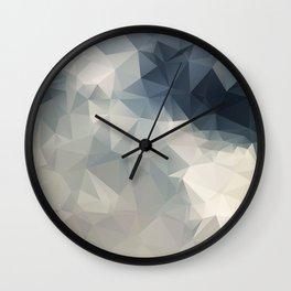 LOWPOLY GEOMETRIC SKY Wall Clock