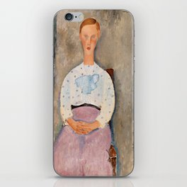 "Amedeo Modigliani ""Girl with a Polka-Dot Blouse (Jeune fille au corsage à pois)"" iPhone Skin"