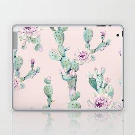 Cactus Rose Pattern on Pink Laptop & iPad Skin